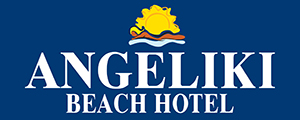 The logo of Angeliki Beach Hotel in Skiatho, Megali Ammos Beach