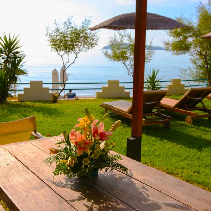 Garden Table - Angeliki Beach Hotel