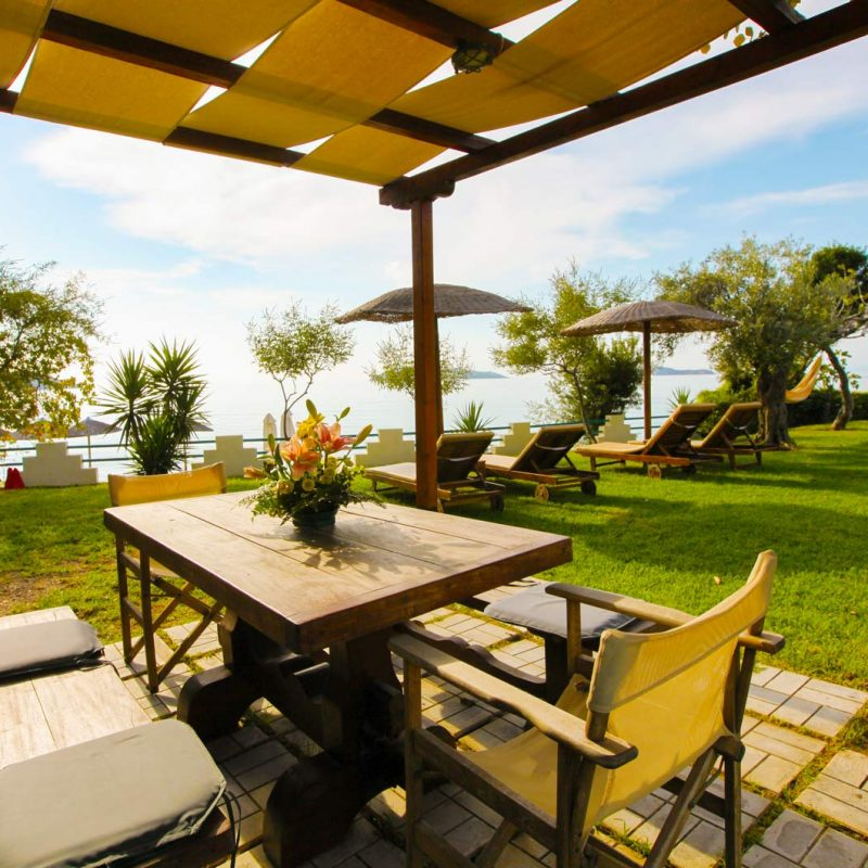Garden Table in Shade - Angeliki Beach Hotel