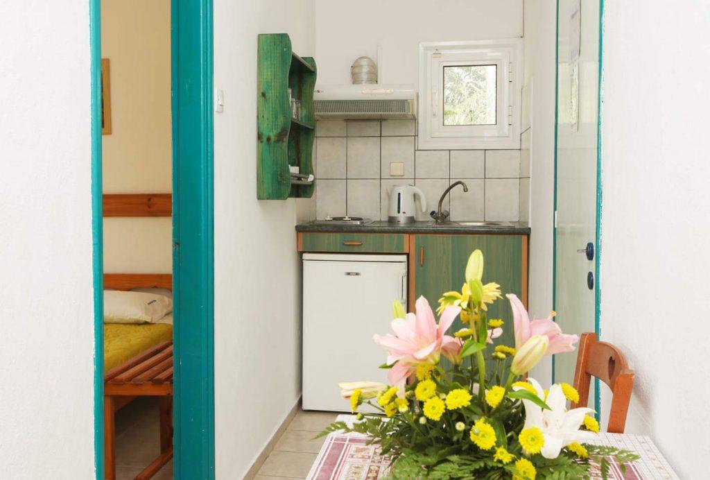 Accommodation - Kitchen - Studio at Angeliki Beach Hotel