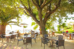 Outdoor Lounge - Swell Beach Bar in Skiathos Island