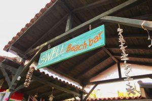Swell Beach Bar in Skiathos - Sign